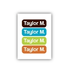 groovy tiny iron-on clothing labels - set of 36