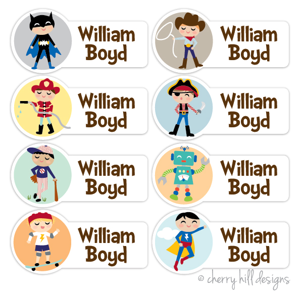 PEEL 'N STICK CHARACTER NAME LABELS