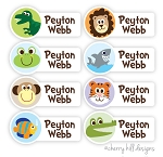 Wild Side - mini waterproof labels - set of 64