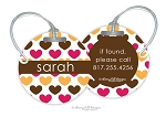 Hearts round premium bag tag