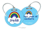 Rainbow round premium bag tag