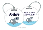 Shark round premium bag tag