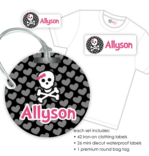 Designer iron on label tag combo set for Iron on shirt labels