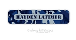 Cool Camo {blue} waterproof name labels