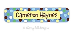 Carnival blue - large waterproof name labels - set of 24
