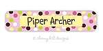 Carnival pink - large waterproof name labels - set of 24