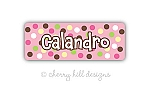 Carnival {pink} iron on name labels