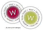 Classic monogram {holiday} round labels