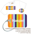 Candy clothing & waterproof label combo