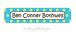 Confetti {aqua} waterproof name labels