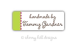 Confetti {green} iron on name labels