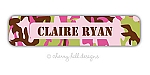Cool Camo [pink] waterproof name labels