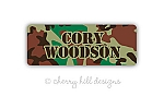 Cool Camo iron on name labels