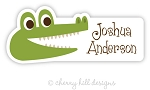 Alligator waterproof name labels