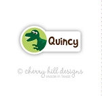 Dinosaur mini die cut name labels - set of 26
