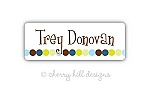 Dot Dot Dot {blue} iron on name labels