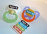 {groovy colors} tiny name labels - set of 48