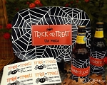Halloween party set - platter, beverage insulator + FREE labels!