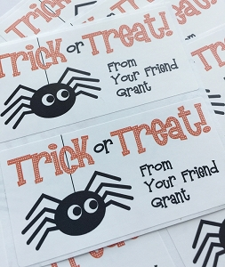 Spooky Spider {halloween} goodie tags