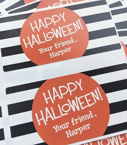 Black & White {halloween} goodie tags