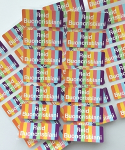 Candy - iron-on clothing labels - set of 42