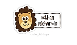 Lion waterproof name labels