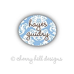Mini Calais {blue} waterproof name labels