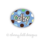 Carnival blue - mini waterproof name labels - set of 66