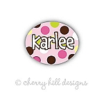 Mini Carnival {pink} waterproof name labels