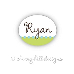 Confetti lime/blue - mini waterproof name labels - set of 66