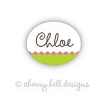 Confetti lime/pink - mini waterproof name labels - set of 66