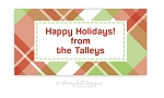 Madras {holiday} jumbo labels