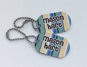 Nautical Blue mini tags - set of 2
