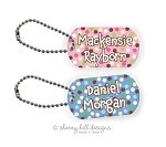 Carnival mini tags {pink or blue} - set of 2