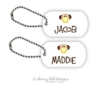 Monkey mini tags - set of 2