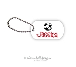 Soccer Ball mini tags - set of 2