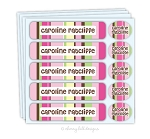 Nautical pink - waterproof name labels value combo - set of 24