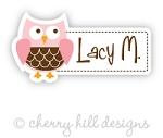 Owl mini die cut name labels - set of 26