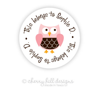 Owl round labels