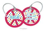 Peace round premium bag tag