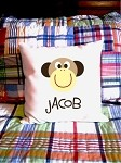 Monkey {boy} - personalized pillow cover
