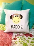 Monkey {girl} - personalized pillow cover