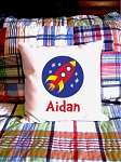 Rocket - personalized pillow cover