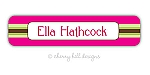Preppy {pink} waterproof name labels