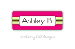 Preppy {pink} iron on name labels
