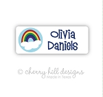 Rainbow iron on name labels