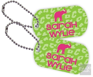 cheetah mini tags - set of 2