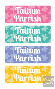 butterfly - mini iron-on labels - set of 64
