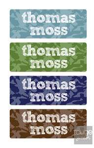 cool camo peel 'n stick clothing labels - set of 64