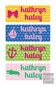 polka dot - mini waterproof labels - set of 72